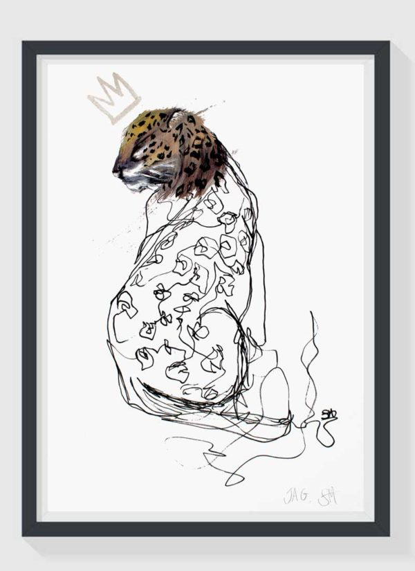 Jag A2 Hand Finished Giclee Art Print by Sophie Mills-Thomas