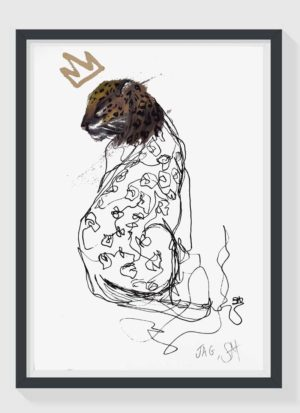 Jag A3 Hand Finished Signed Giclee Art Print by Sophie Mills-Thomas
