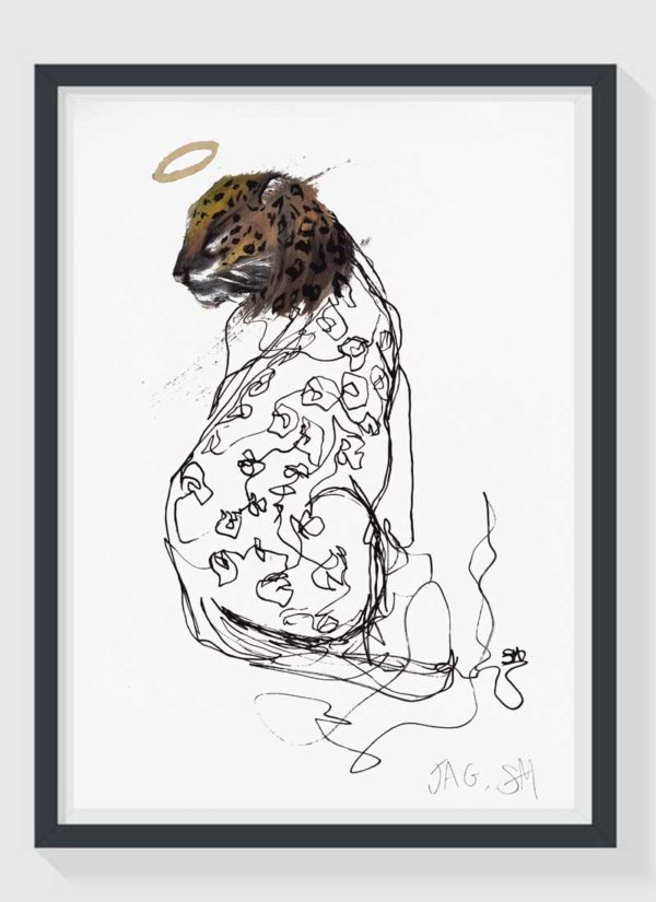 Jag A3 Hand Finished Animal Art Print by Sophie Mills-Thomas
