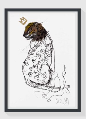 Jag A4 Hand Finished Signed Animal Art Print by Sophie Mills-Thomas