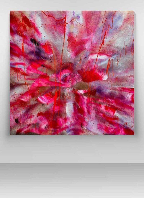 I just want to bloom Expressive Abstract Original Art by Helen Lack
