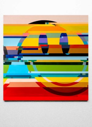Something's Wrong Original Smiley Face Glitch Art by Paul Kneen