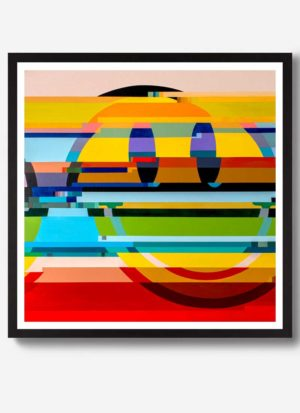 Somethings wrong distorted smiley face art print by Paul Kneen