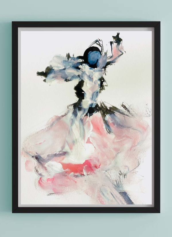 Dance The Night Away Abstract Illustration Giclee Art Print by Helen Lack