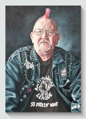 Daz - Fine Art Male Portrait Oil Painting by Louise Bird