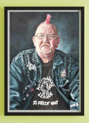 Daz Fine Art Male Portrait Giclee Print