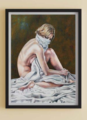 Fragile Figurative Female Fine Art Print by Louise Bird