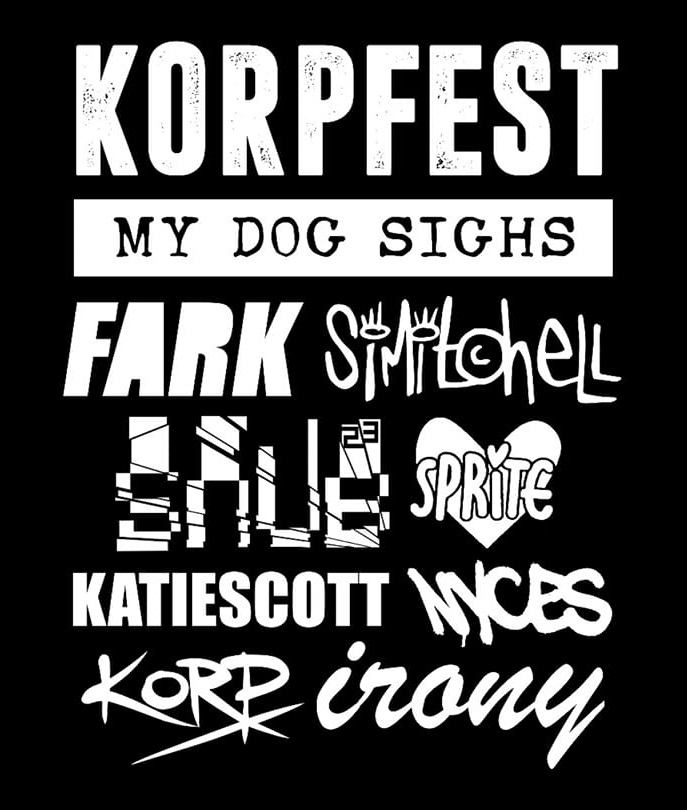 Just some of the artists who will be painting at this years Korpfest