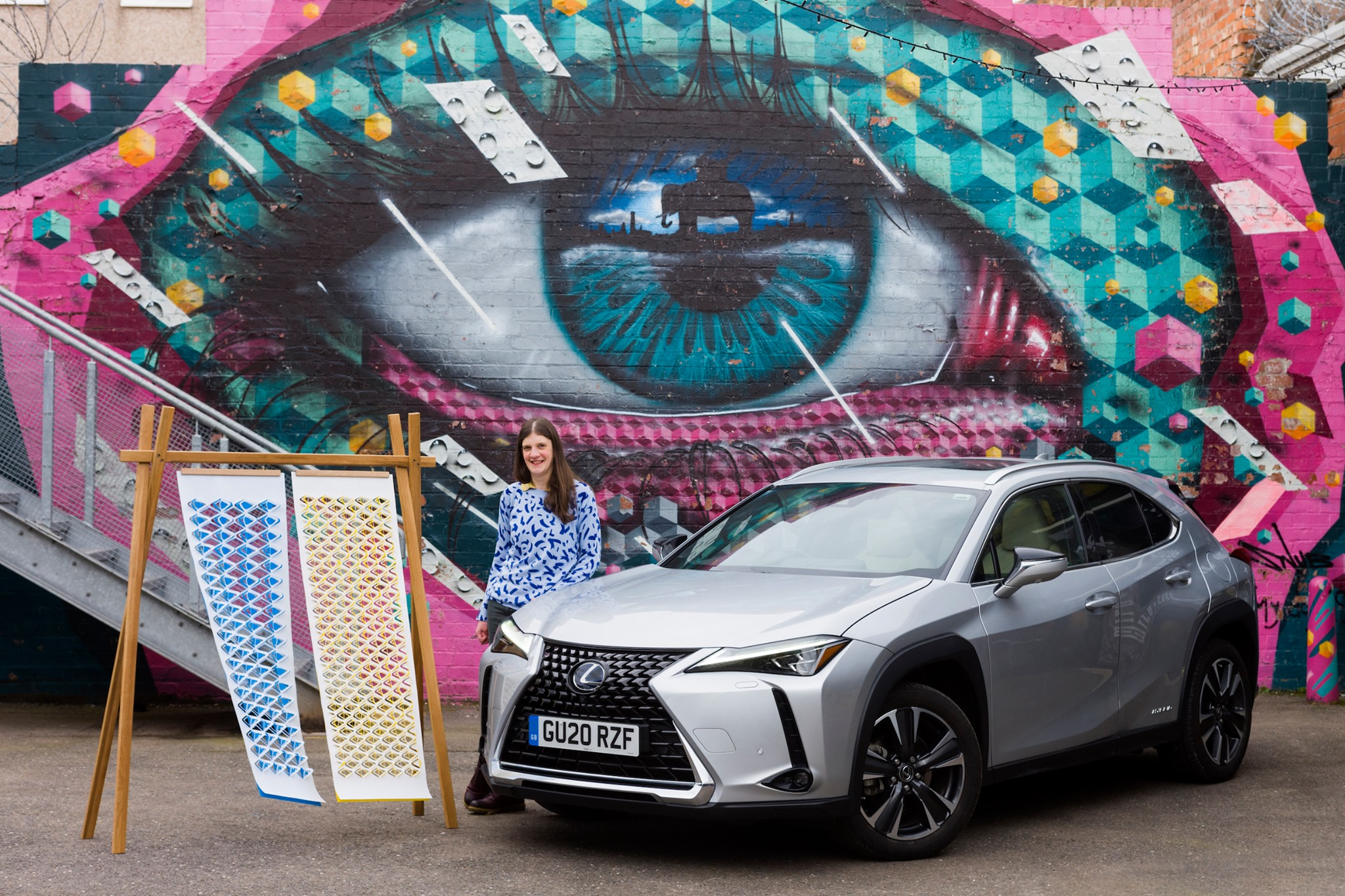 The offending Lexus campaign featuring unauthorised usage of a mural by My Dog Sighs and SNUB23