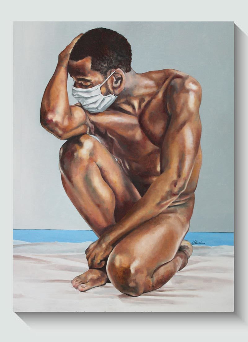 The Nude Normal: Male No.1 Original Figurative in Oil by Louise Bird