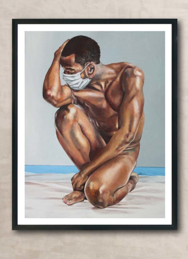 The Nude Normal: Male No.1 Figurative Male Nude Print by Louise Bird