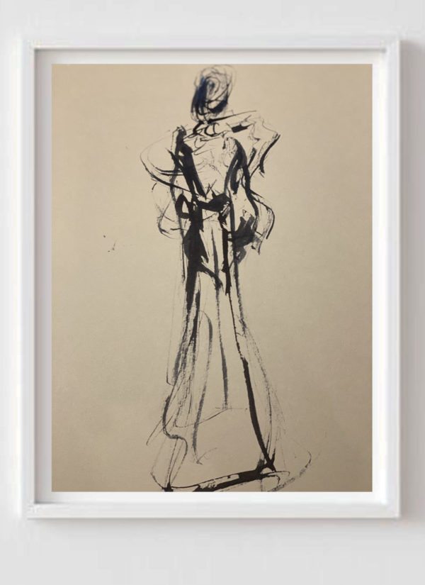 The Sign Of The Times Monochrome Figurative Art Print by Helen Lack