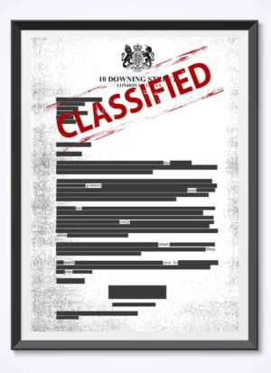 Redacted Political Art Giclee Signed Print by Paul Kneen