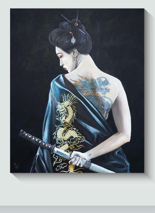 Intuition Original Figurative Female Art by Mark Fox