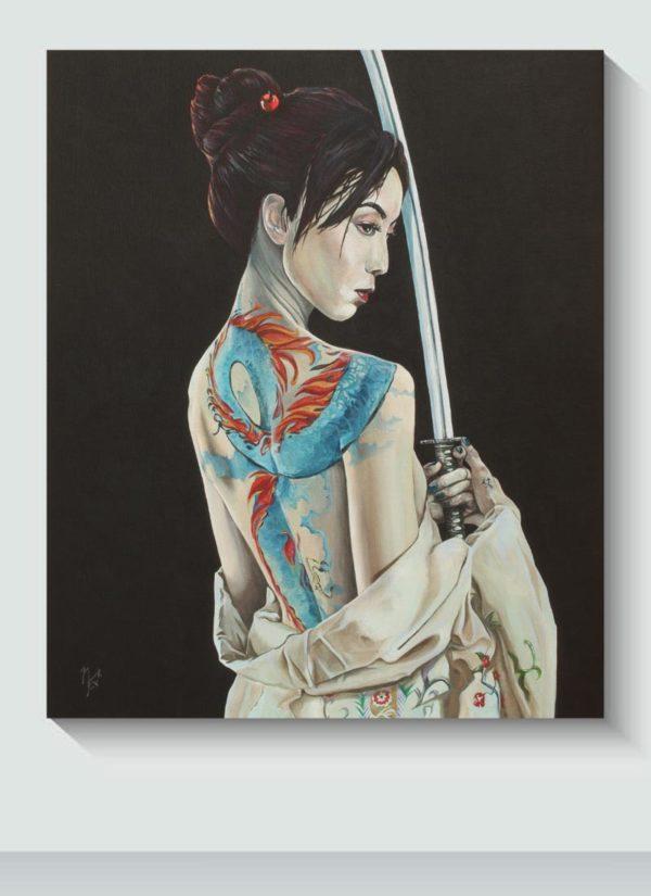 Scorned Figurative Tattooed Female Original Art by Mark Fox