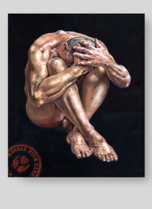 Handle With Care Figurative Male Nude Art by Louise Bird