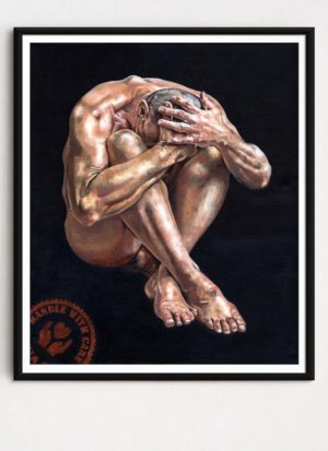 Handle With Care Figurative Male Nude Art Print by Louise Bird