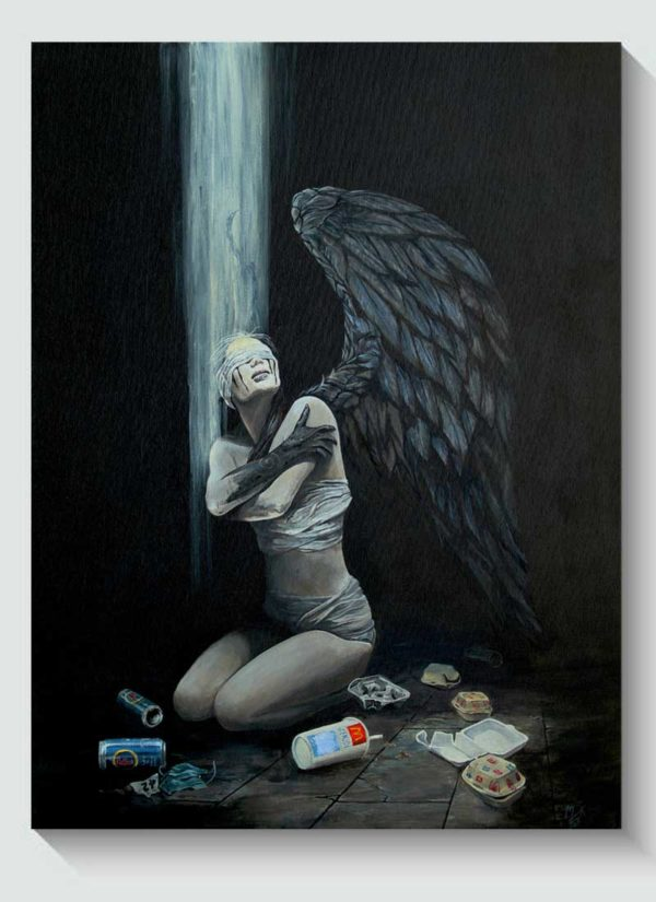 No More Time Figurative Female Original Art by Mark Fox