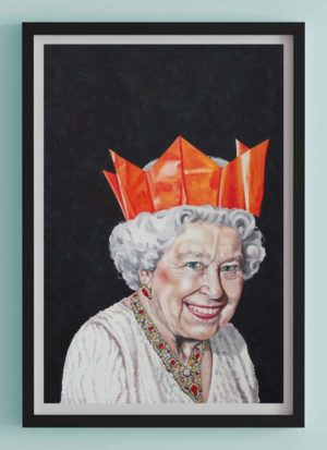 One Likes To Party Queen Fine Art Print Portrait by Louise Bird