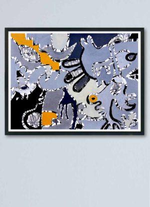 From Dusk Till Dawn Fine Art Abstract Giclee Print by Szilvia Ponyiczki