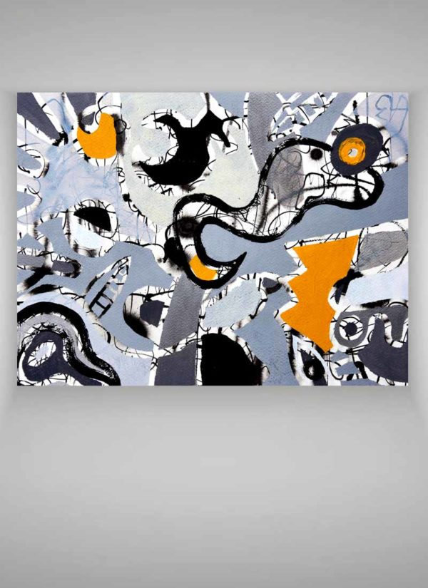 Lost Kingdom Original Abstract Expressionism Art by Szilvia Ponyiczki