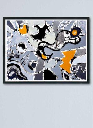 Lost Kingdom Abstract Mixed Media Art Print by Szilvia Ponyiczki
