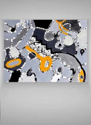 Secret Key Original Abstract Mixed Media Art by Szilvia Ponyiczki
