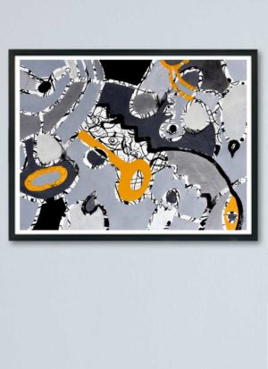 Secret Key Abstract Giclee Art Print by Szilvia Ponyiczki