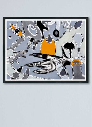 The Three Wishes Abstract Fine Art Giclee Print by Szilvia Ponyiczki