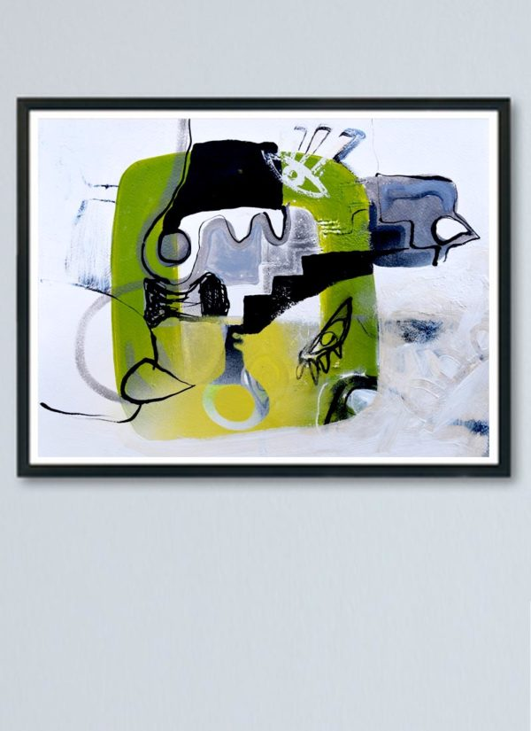 Well of Souls Abstract Expressionism Art Print by Szilvia Ponyiczki