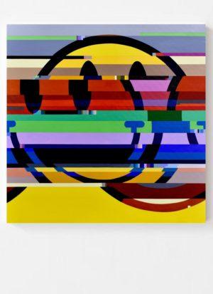 Discombobulated Original Pop Art Smiley Face by Paul Kneen