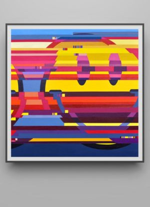 Maybe Tomorrow Will Be Better Smiley Glitched Art Print by Paul Kneen