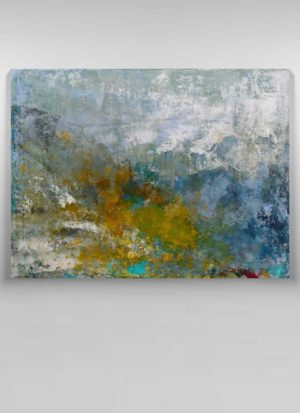 The Last Signs Of Autumn Signed Abstract Landscape by Sarah Perkins