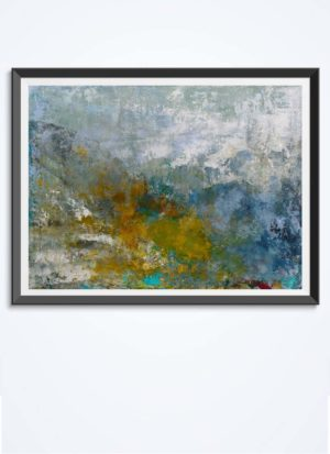 The Last Signs Of Autumn Abstract Landscape Art Print by Sarah Perkins